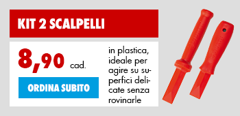 scalpelli in plastica per superfici delicate