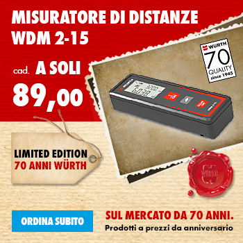 Misuratore di Distanze WDM 2-15 LIMITED EDITION 70 ANNI WÜRTH