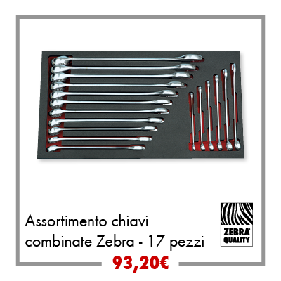 Assortimento chiavi combinate 17pz
