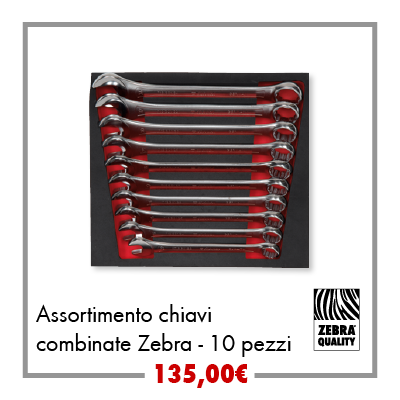 Assortimento chiavi combinate Zebra - 10pz