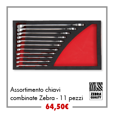 Assortimento chiavi combinate Zebra - 11pz