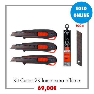 Kit Cutter 2K lame extra affilate